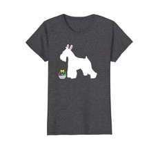 Miniature Schnauzer Easter Bunny Ears Dog Silhouette T-Shirt - $19.99+