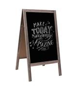 "IWELL Large A-Frame Chalkboard Sign   39.4"" x 21.7""  , Solid Wood Blackb... - $57.78"