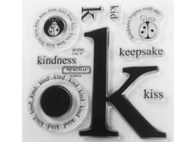 """Close to My Heart Solo """"K"""" Clear Acrylic Stamp Set #B1235"""