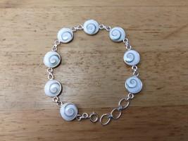 Shiva Eye Shell Bracelet, 925 Sterling Silver with Natural Shiva Shell 1... - $29.95