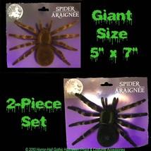 Realistic Flocked GIANT TARANTULA SPIDERS Scary Horror Halloween Prop De... - $8.88