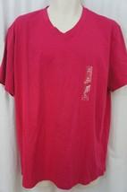 Alfani Mens T-Shirt Sz S Rhubarb Pink Cotton Slim Fit V-Neck Casual Tee ... - $12.09