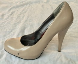 "Steve Madden Women's Nude Patent Leather Trinitie Platform Pump 4.5"" Heels 7 - $14.99"