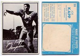 1961 Topps Joe Kapp Card #20 Calgary Stampeders U of California Berkeley - $18.66
