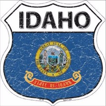 "Idaho State Flag Distressed 11"" x 11"" Novelty Highway Shield Metal Sign - $9.95"