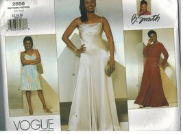 2656 UNCUT Vogue Sewing Pattern Misses Sleeveless Fitted Flared Dress B ... - $12.99