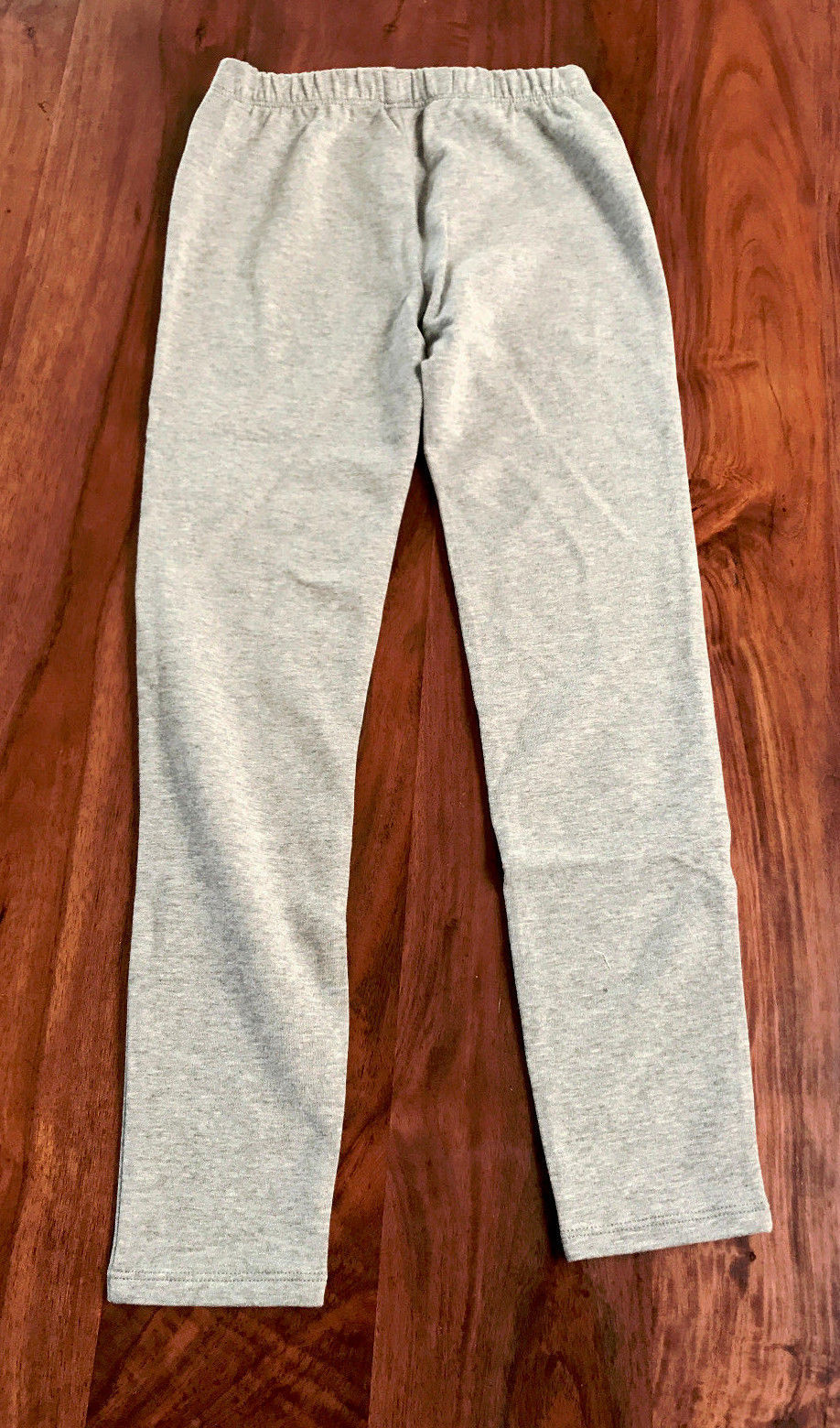 Gap Kids Girls Leggings 8 Heather Gray Soft Terry Elastic Waist Cotton Solid New