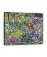 Monet Garden Detail Canvas Art Print 11 by 14 Inches Over Wooden Frame - $37.99