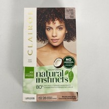 Clairol Natural Instincts Ammonia Free 4RR Dark Red Hair Dye Lasts 28 Washes - $11.74