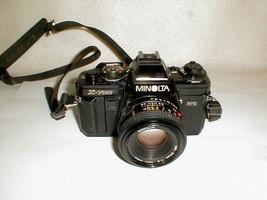 MINOLTA X-700 MPS Black 35mm SLR Film Camera w/ MD 50mm Lens Tested Black  - $150.00
