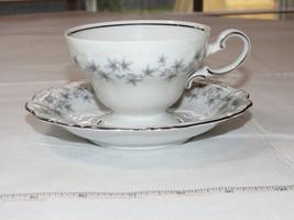 Johann Haviland Blue Garland Pattern China Cup & Footed Saucer Bavaria Germany~ - $19.05