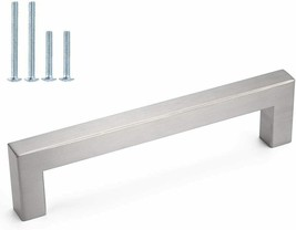 Modern Drawer Pull, Stainless Steel Brushed Nickel
