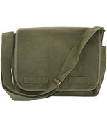 Olive Green Original Heavyweight Classic Military Messenger Bag with Arm... - $37.50