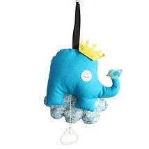 Baby Elephant and Bird Pull String Musical Box Handmade for Crib Stroller Travel