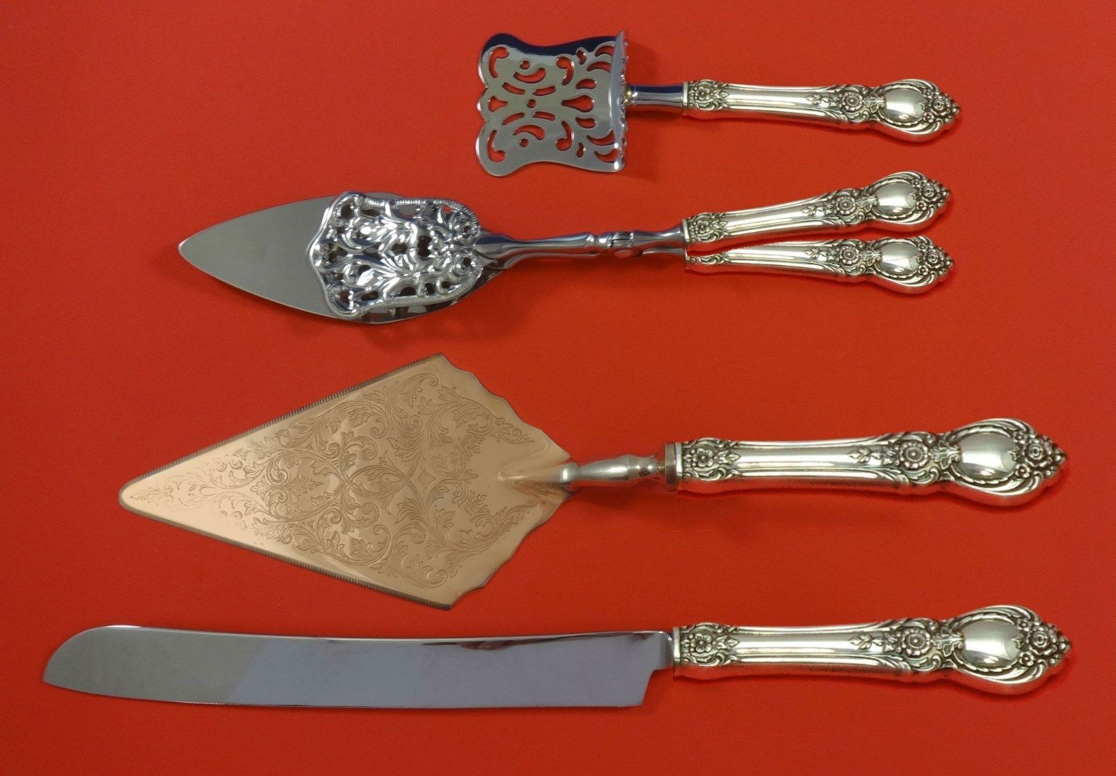 Primary image for Stanton Hall by Oneida Sterling Silver Dessert Serving Set 4pc Custom Made