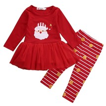 XMAS Cotton Newest Cute Toddler Kids Baby Girl Outfit Shirt Top+Leggings... - $12.69