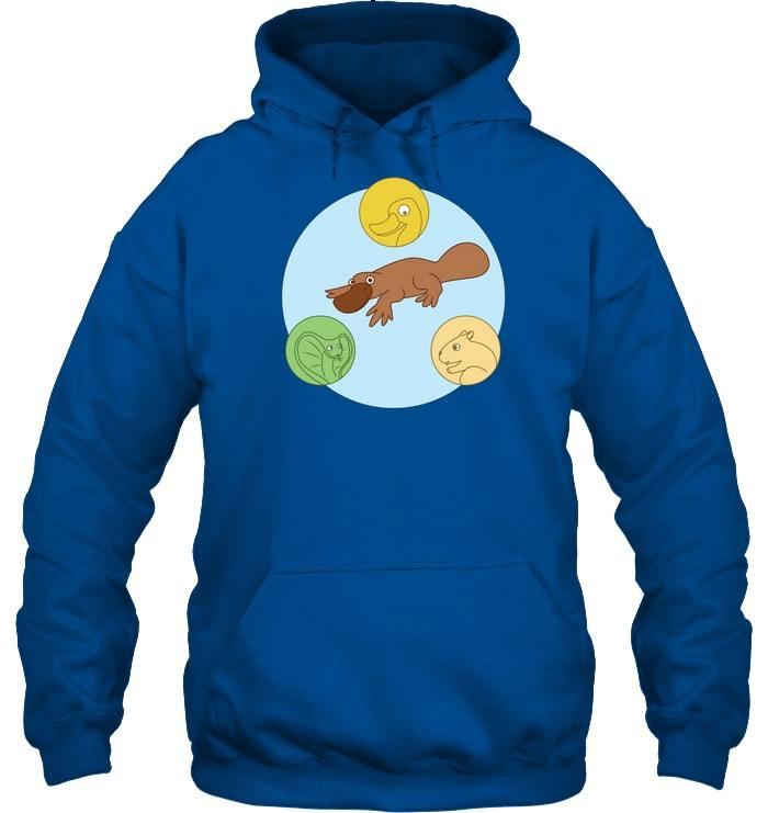 platypus venn diagram hoodie duck snake beaver lover tee