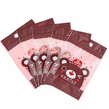 PANDA SUPERSTORE 50 Pack Cute Happy Bear Stand Up Pouch Bags with Zip Lock for F