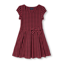 The Children's Place Girls Cap Sleeve Houndstooth Print Flare Dress Size... - $23.76