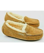 UGG Ansley Womens Suede Moccasin Chestnut Slippers Size 5 Authentic - $52.35