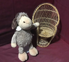 Nici Germany Gray Tan Pilot Stuffed Sheep Lamb Plush Animal HTF - $44.55