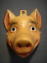 PIG FARM ZOO ANIMAL HALLOWEEN MASK PVC - $16.89 CAD