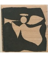 Hampton Art Stamps Angel Playing Trumpet Holidays Christmas Card Making ... - $4.00
