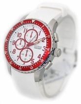 BRAND NEW GUESS U12651G3 WHITE SILICONE & RED STAINLESS STEEL MEN'S WATCH - £94.69 GBP