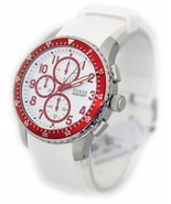BRAND NEW GUESS U12651G3 WHITE SILICONE & RED STAINLESS STEEL MEN'S WATCH - ₹9,267.43 INR