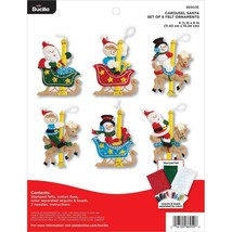 Bucilla - 'Carousel Santa Ornaments' Felt Applique Embroidery Kit - 86950E - $23.99