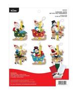 Bucilla - 'Carousel Santa Ornaments' Felt Applique Embroidery Kit - 86950E - $23.99