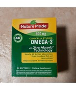 Nature Made Omega-3 Xtra 4X Absorption-500mg  30 Softgels  EXP: 05/2021 - $10.99