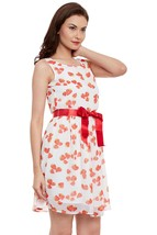 White Dress In Strawberry Print - $37.00
