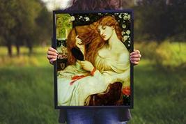 "Lady Lillith - Dante Gabriel Rossetti- Art Print - 13"" x 19"" - Custom Sizes Avai - $25.00"