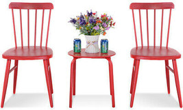 Bistro Furniture Set Steel Table Chair Outdoor Patio Garden Heavy Duty S... - $118.66