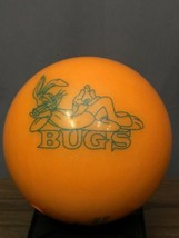 Bugs Bunny Brunswick 13 Lb 6 Oz Orange Sprkl Bowling Ball Warner Bros Ma... - $59.39