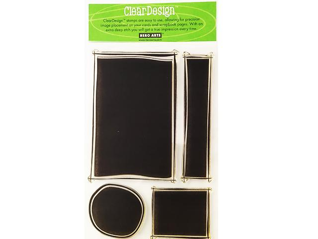 Primary image for Hero Arts-ClearDesigns Backgrounds Stamps, Set of 4 #CL027