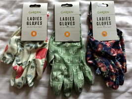 3 Pairs of Ladies Floral Gardening Gloves BNWT - $18.55