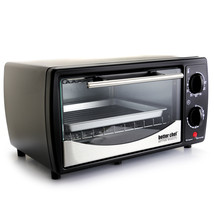 Better Chef 9 Liter Toaster Oven Broiler- Black With Stainless Steel Front - $48.39