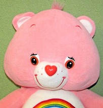 "22"" Care Bears CHEER BEAR PINK Rainbow Plush Teddy Pillow Style Stuffed ... - $28.04"
