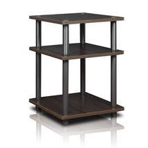 Furinno Turn-N-Tube Easy Assembly Multipurpose Shelf 15095CC/GY, Espresso - $23.72