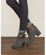 SAM EDELMAN Ankle Booties Hannah Leather Belted Boots Grey 10.5 - $54.97