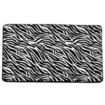 "Super Soft and Absorbent 20"" x 31.5"" Faux Fur Zebra Print Bath Mat Non-S... - $15.29"