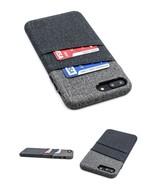 iPhone 8 Plus Case Slim Wallet 2 Card Holder Slots Wireless Charging Bla... - $23.75
