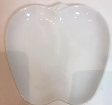 "Pfaltzgraff Apple Shaped White Plate Serving Dish 8 3/4"" - $14.84"