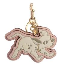 NWT COACH Disney Bag Charm Key Chain Dogleash Dalmatian Blossom Pink Gol... - $41.58