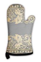 Oven Mitt, Vintage Elegance Antique Victorian Gold Floral Ornament - $24.50+