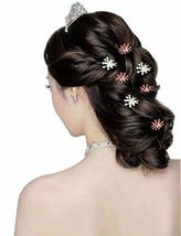 10 PCS Ingenious Snowflake Rhinestone Hair Pins/Clips Headwears, Purple