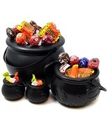 "JOYIN Black Cauldron with Handle 8"" for Halloween Party Favor Decoration... - £10.28 GBP"