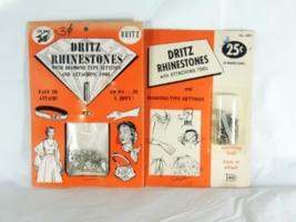 Vintage Dritz Rhinestones About 36 Pieces Each 2 Packs - $15.99